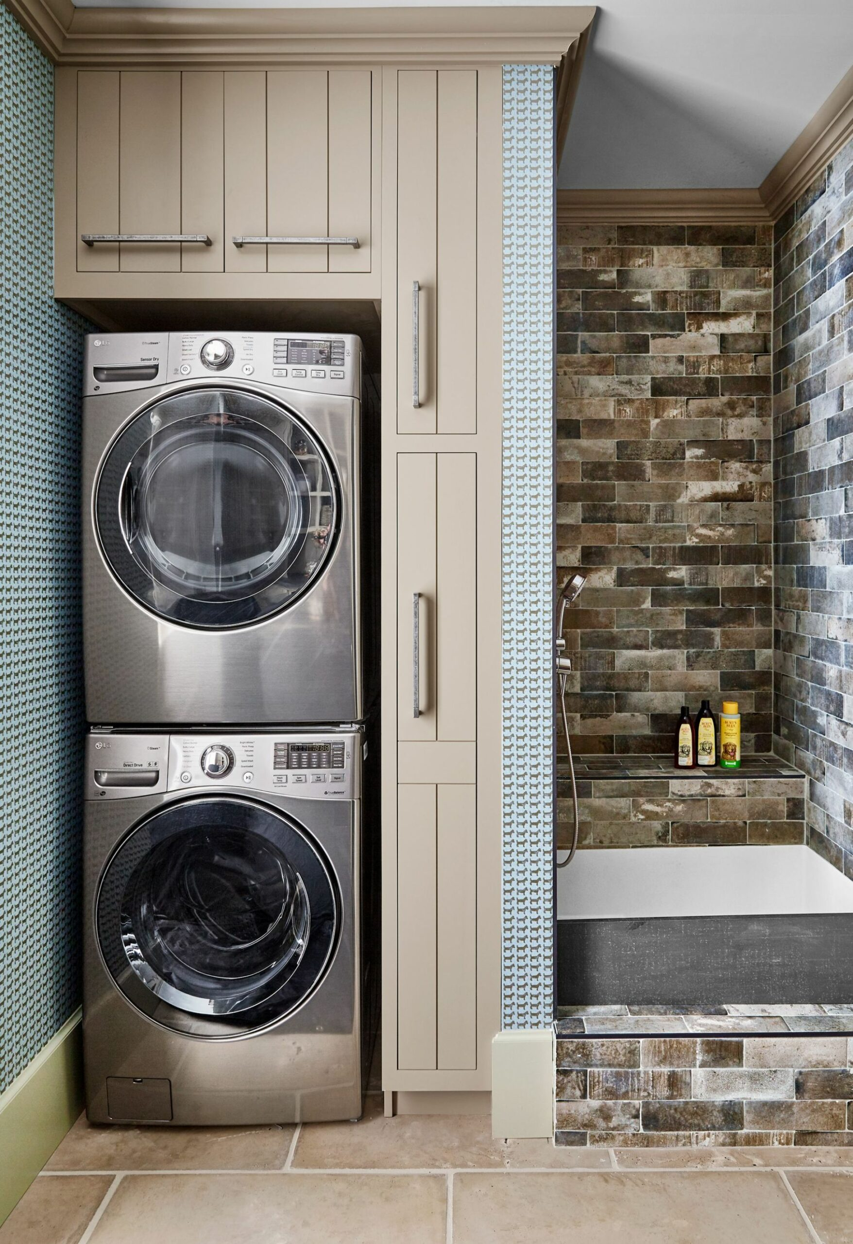 11 Small Laundry Room Ideas - Small Laundry Room Storage Tips - laundry room bar ideas