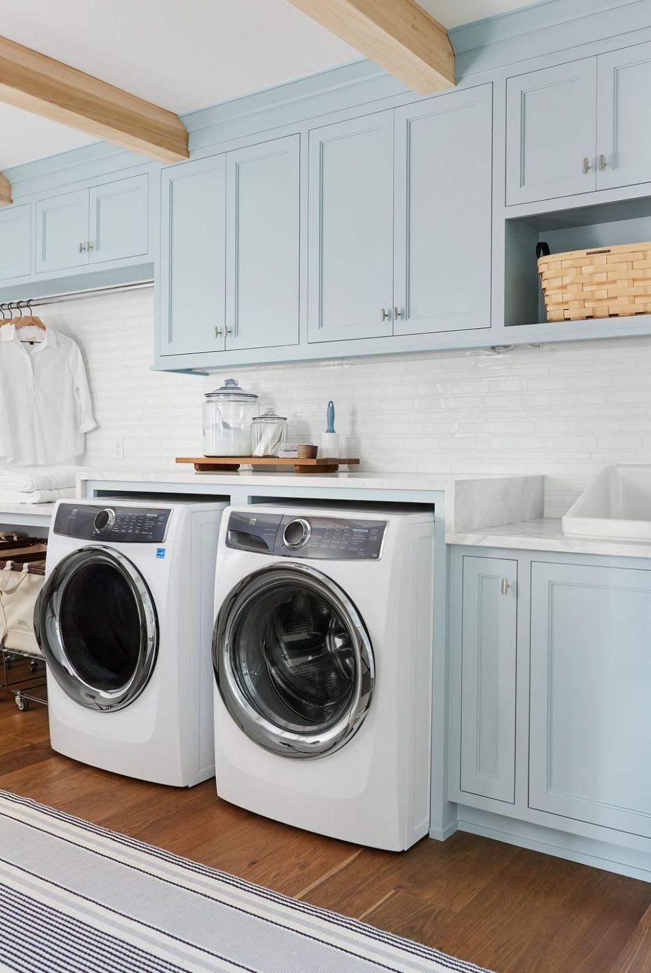 11 Small Laundry Room Ideas - Small Laundry Room Storage Tips - small laundry room ideas top loading washer