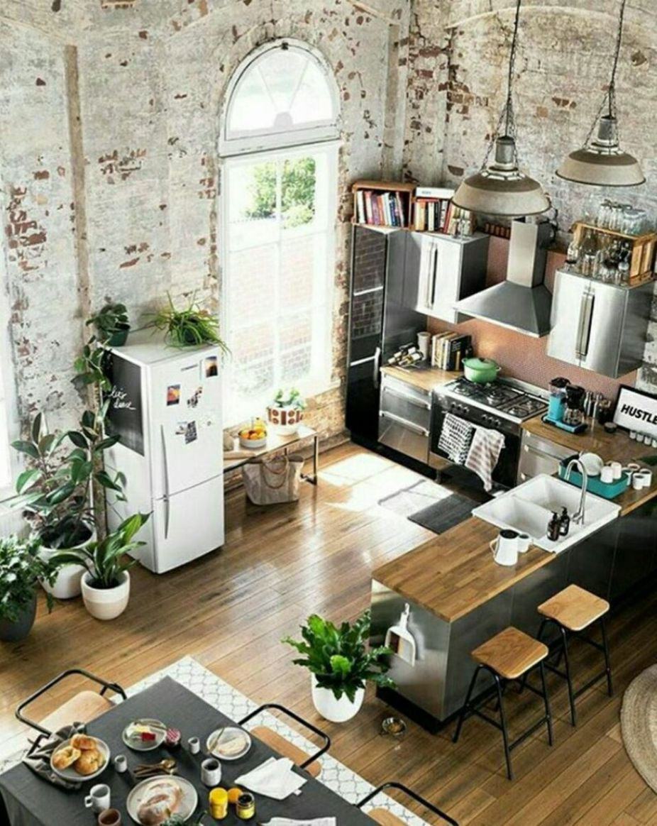 11 Small Modern Industrial Apartment Decoration Ideas | Industrial ..