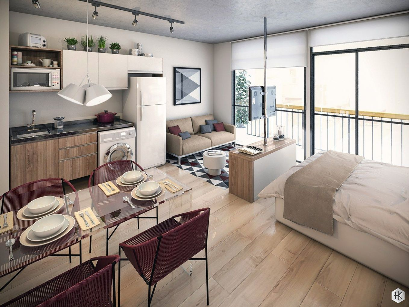 11 Small Studio Apartments With Beautiful Design (With images ..
