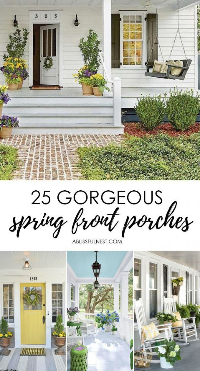11 Spring Front Porch Ideas: Bright and Refreshing Design (With ...