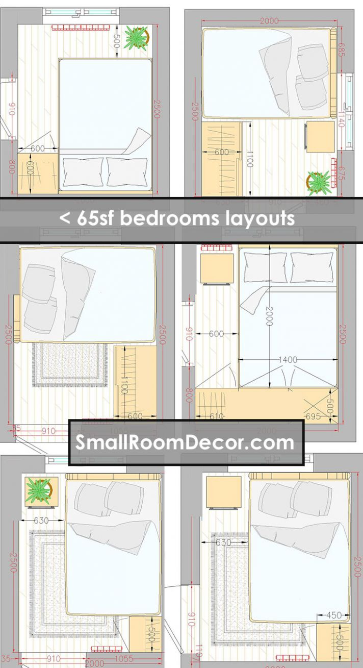 11 standart and 11 extreme Small Bedroom Layout Ideas [from 11 to ..