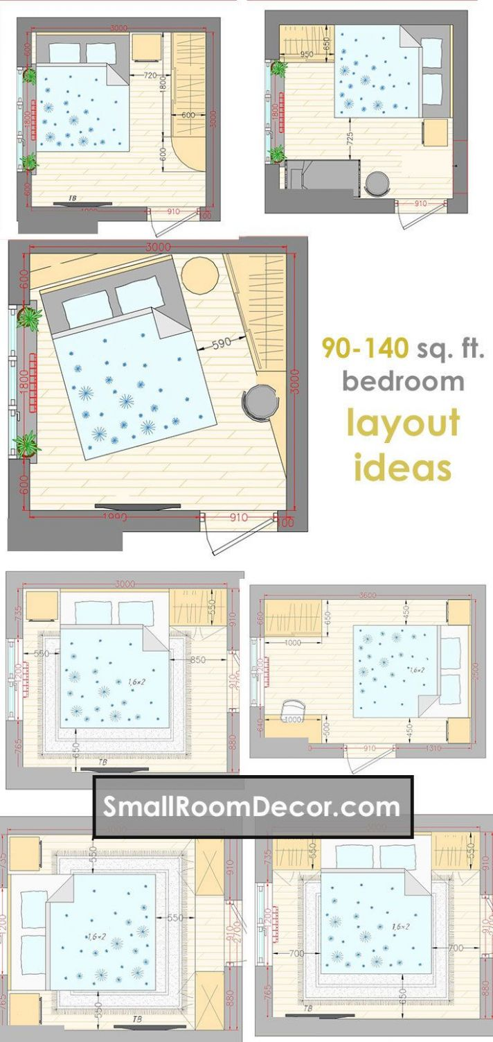 11 standart and 11 extreme Small Bedroom Layout Ideas (With images ..