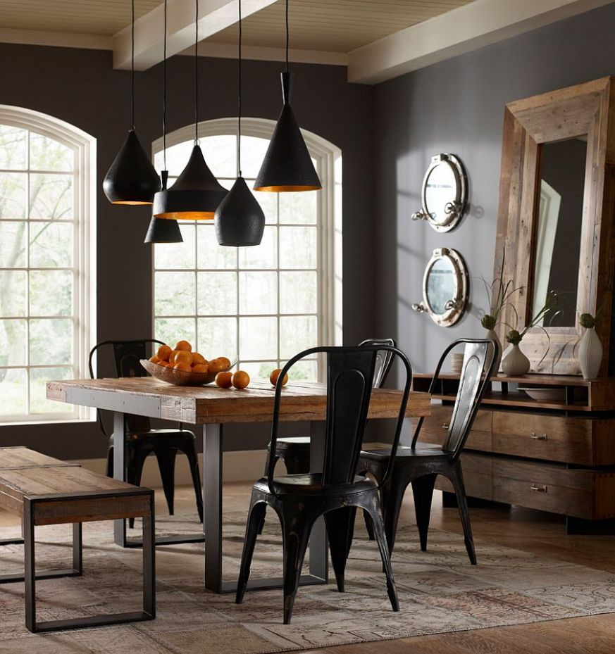 11 Ways to Create a Trendy Industrial Dining Room - dining room ideas industrial