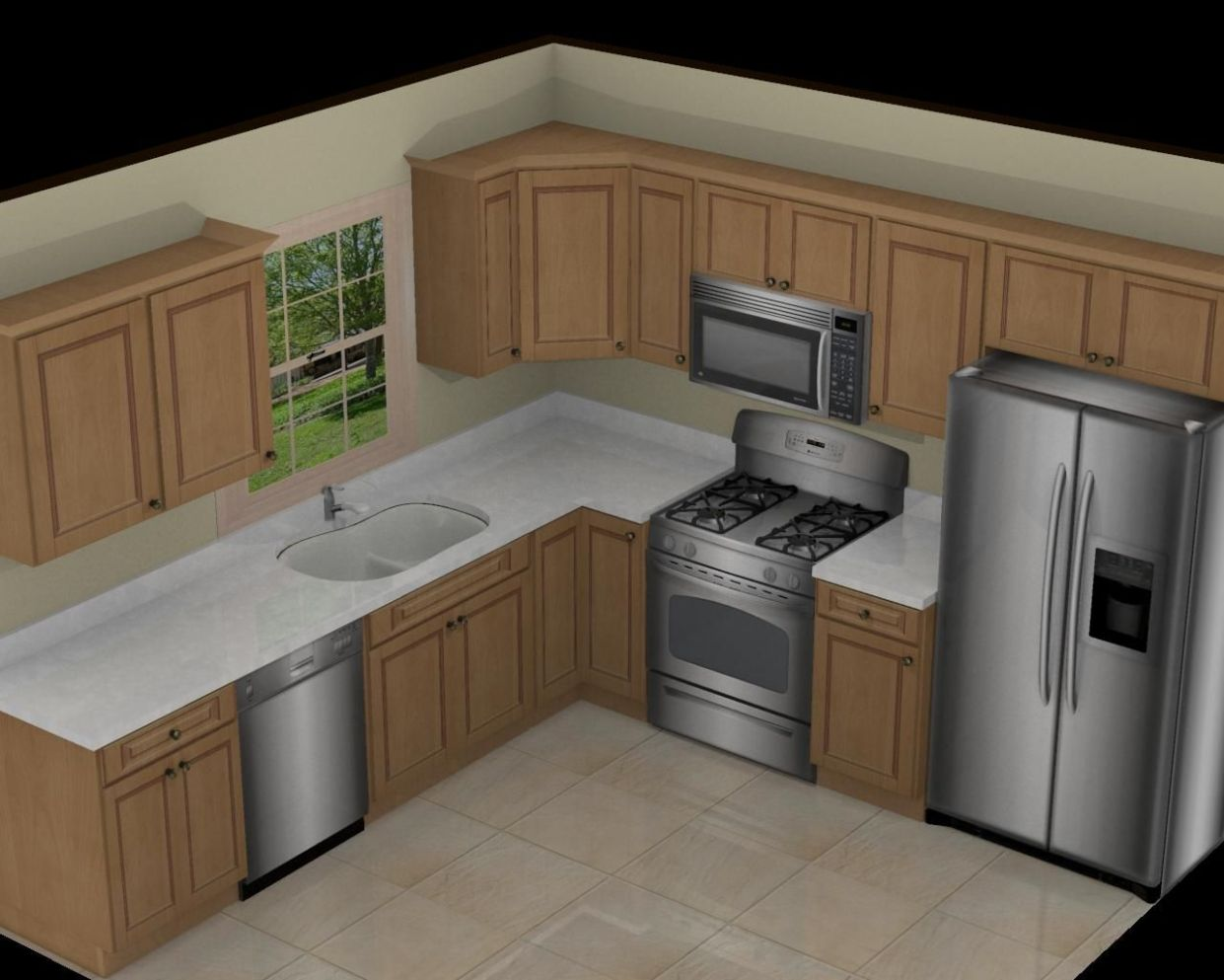 11x11 Kitchen Remodel (With images) | Small kitchen layouts, Small ..