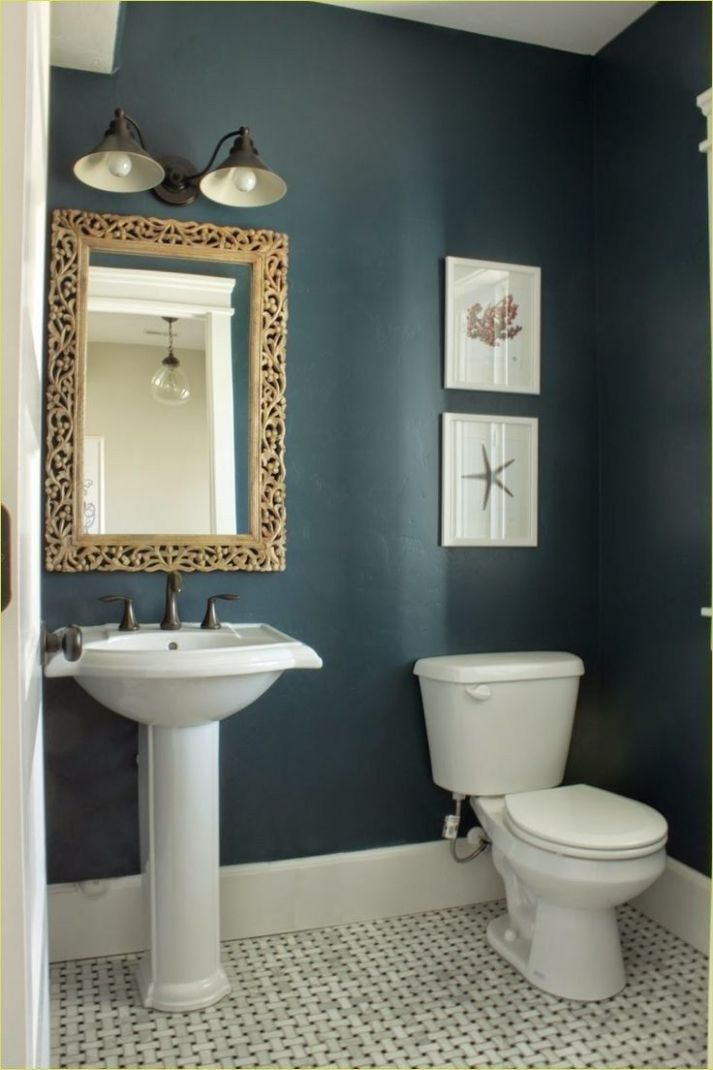 12 Beautiful Bold Bathroom Color Ideas (With images) | Small ..