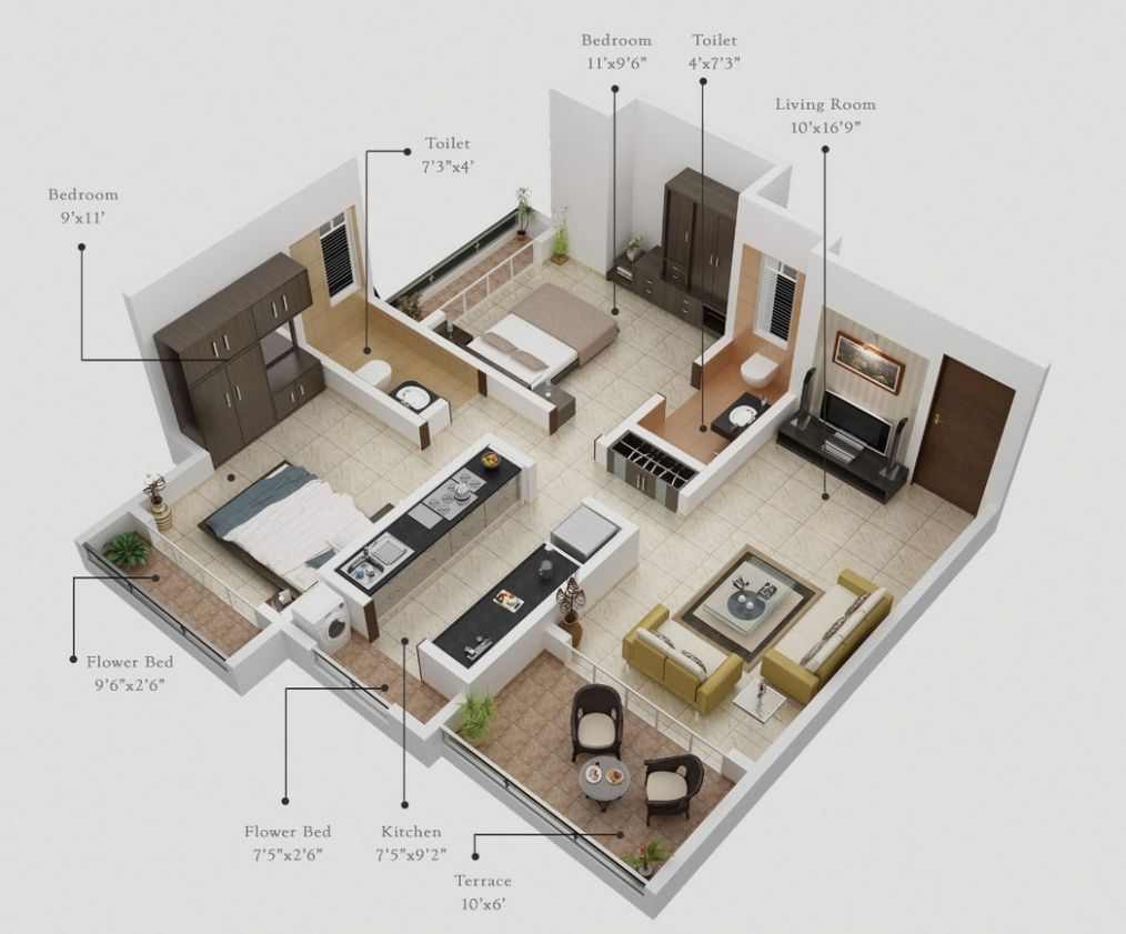 12 Bedroom Apartment/House Plans - apartment design planner