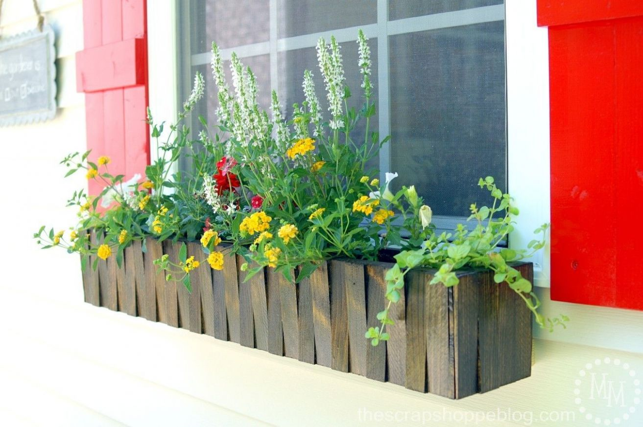 12 Best DIY Window Box Ideas - How to Make a Window Box - window box ideas for summer