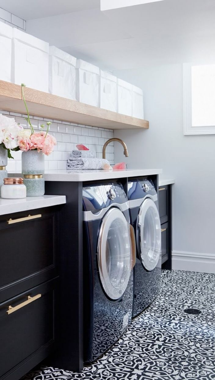 12 Best Small Laundry Room Design Ideas for 12 - laundry room ideas with dark cabinets