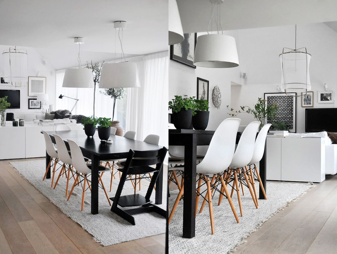 12 Black & White Dining Rooms That Work Their Monochrome Magic - dining room ideas grey and white