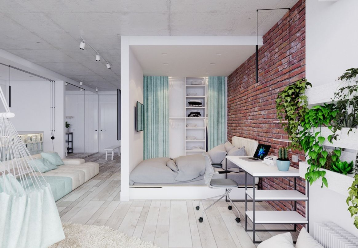 12 Bright Studio Apartments With Creative Bedroom Placement