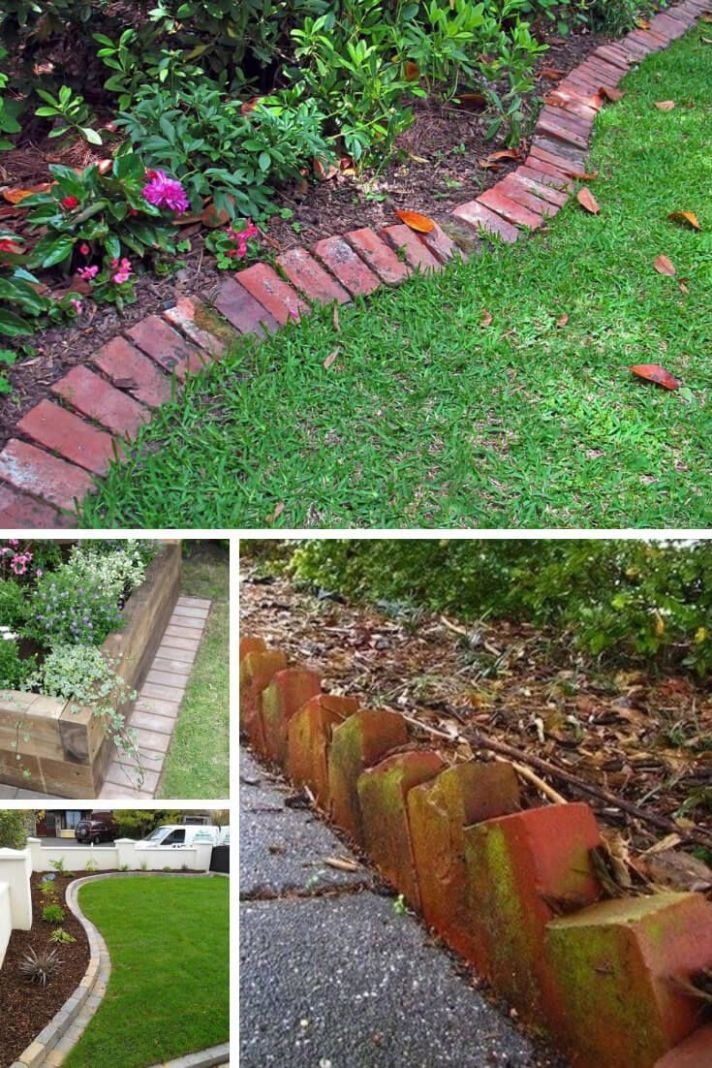 12+ Brilliant & Cheap Garden Edging Ideas (With images)   Patio ..