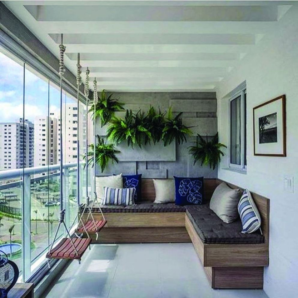 12+ Brilliant Closed Balcony Design Ideas To Enjoy In All Weather ...