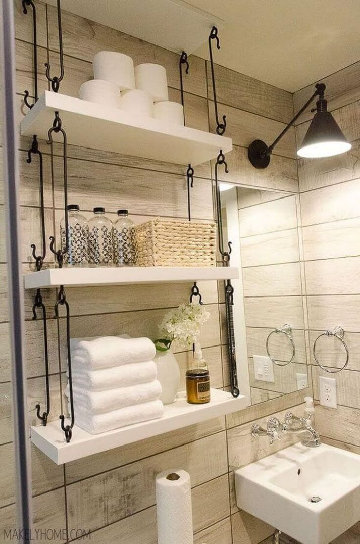 12 Brilliant Over the Toilet Storage Ideas that Make the Most of ...