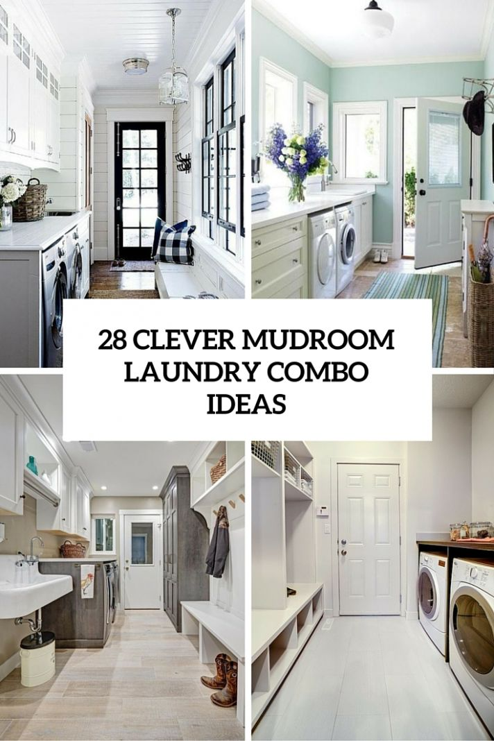 12 Clever Mudroom Laundry Combo Ideas - Shelterness - mudroom laundry room makeover ideas