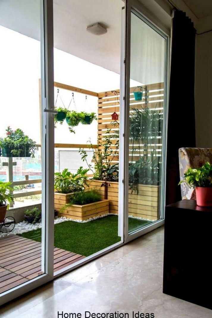 12+ Comfortable Small Balcony Makeover Ideas | Small balcony ..