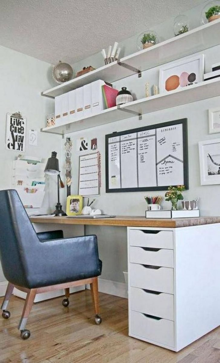 12+ Cool Small Home Office Design Ideas #coolofficespacesmall ..