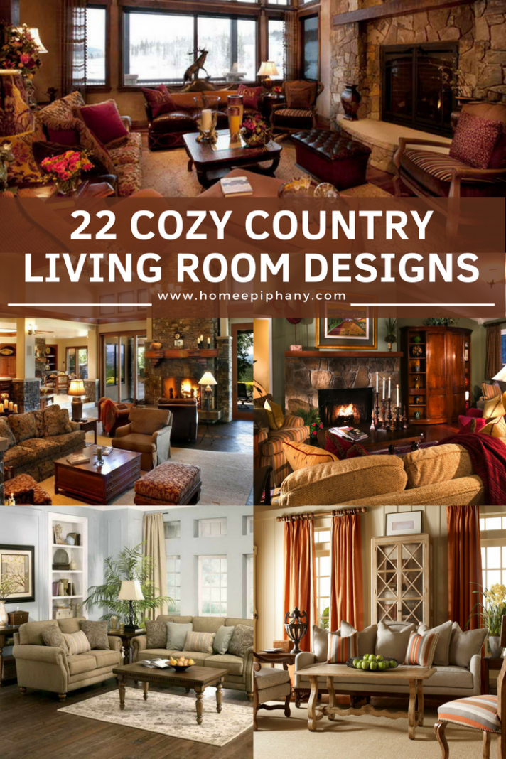 12 Cozy Country Living Room Designs | Country livingrooms, Country ...