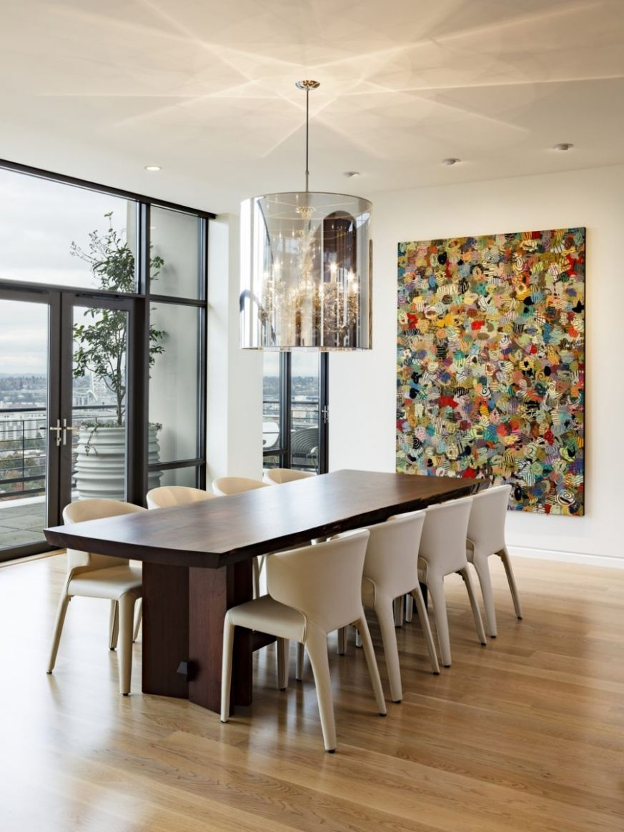 12 Dining Rooms Featuring Artworks That Make All The Difference - dining room decorating ideas houzz