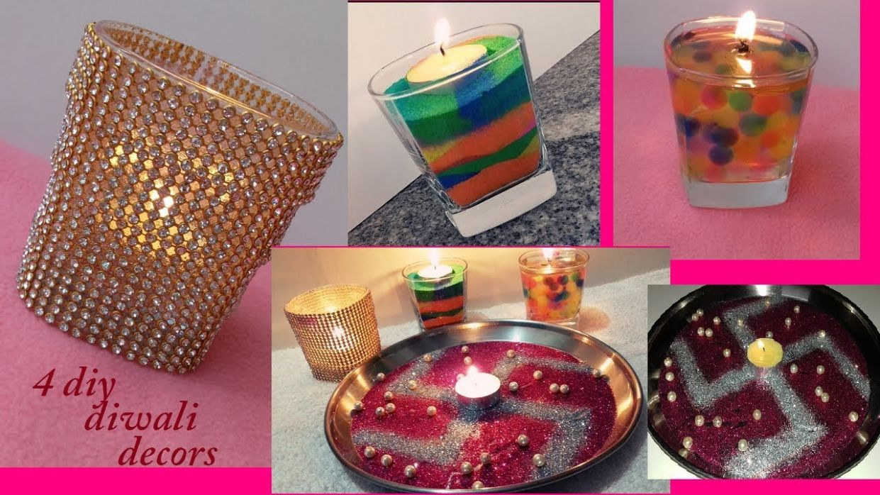 12 DIY Diwali / Diwali Decorations / DIY Room Decor ideas / DIY candle  decorations