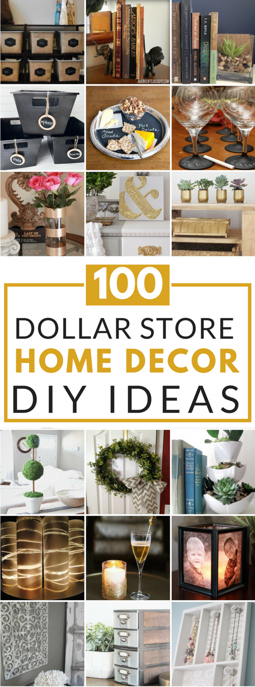 12 Dollar Store DIY Home Decor Ideas | Easy home decor, Dollar ..