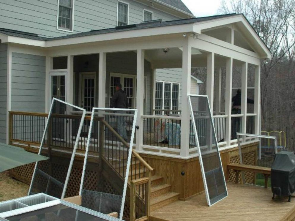 12 Enclosed Porch Plans For A Jolly Good Time - House Plans - front porch ideas enclosed