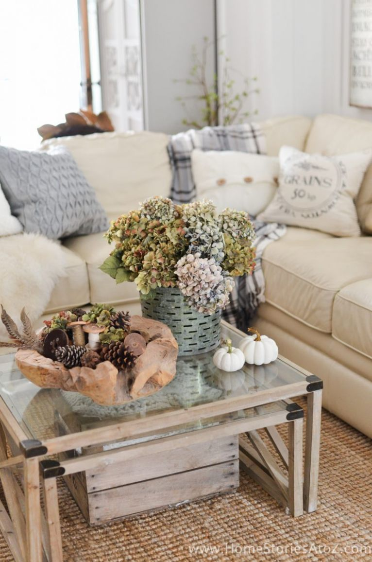 12+ Fall Living Room Decorating Ideas - living room ideas vignettes