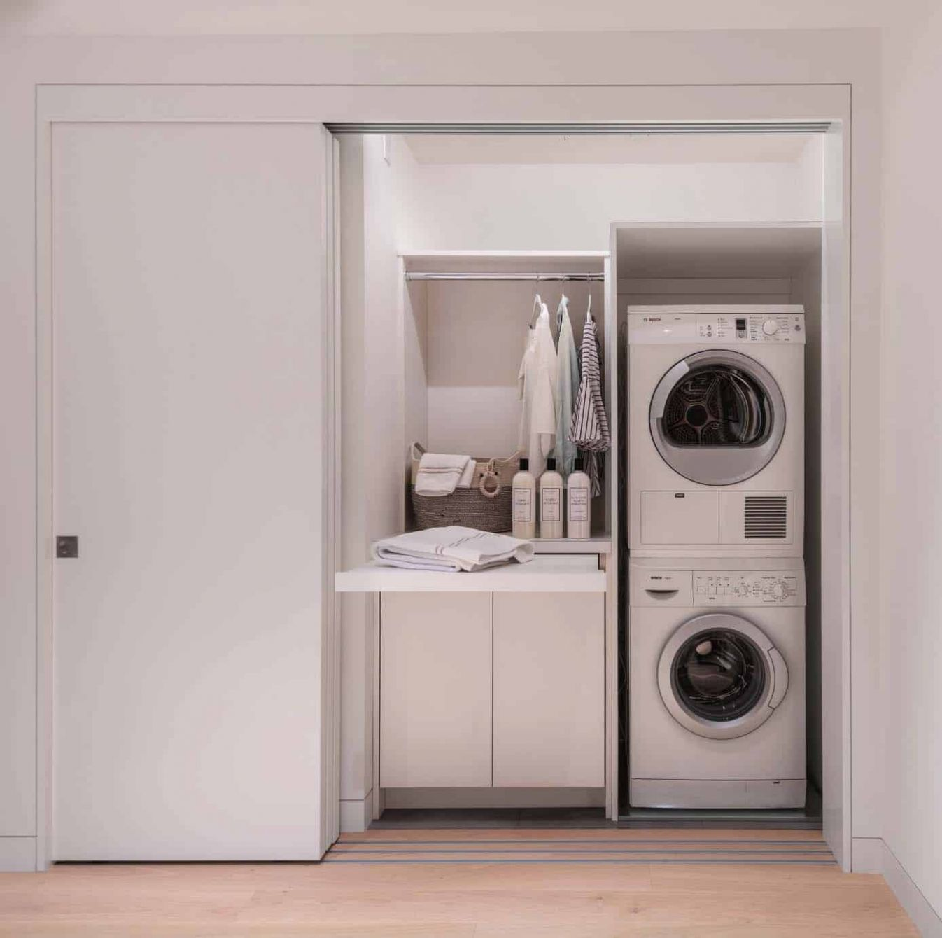 12 Functional And Stylish Laundry Room Design Ideas To Inspire - laundry room ideas with broom closet