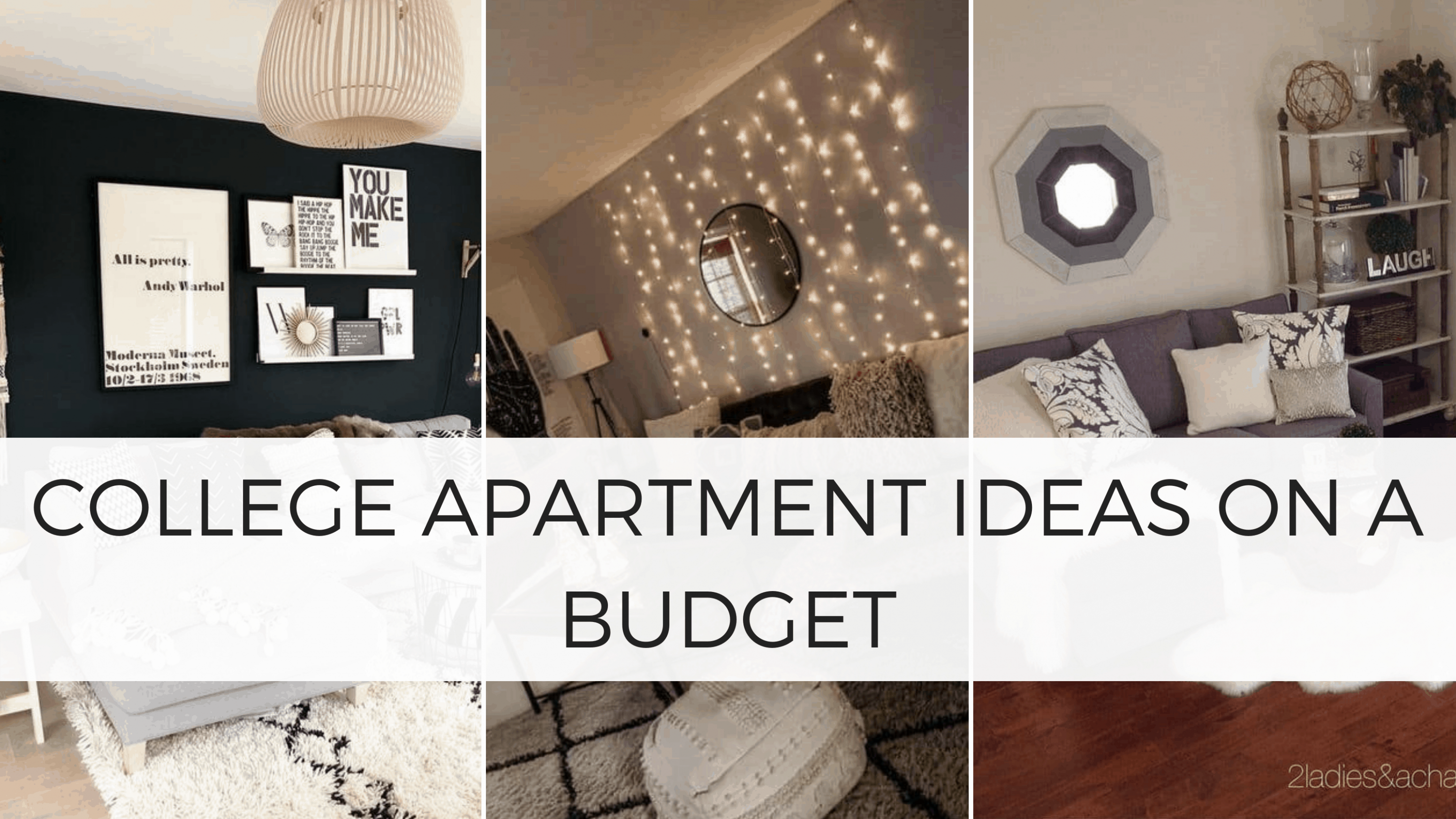 12 Genius College Apartment Decorating Ideas on a Budget - By ...