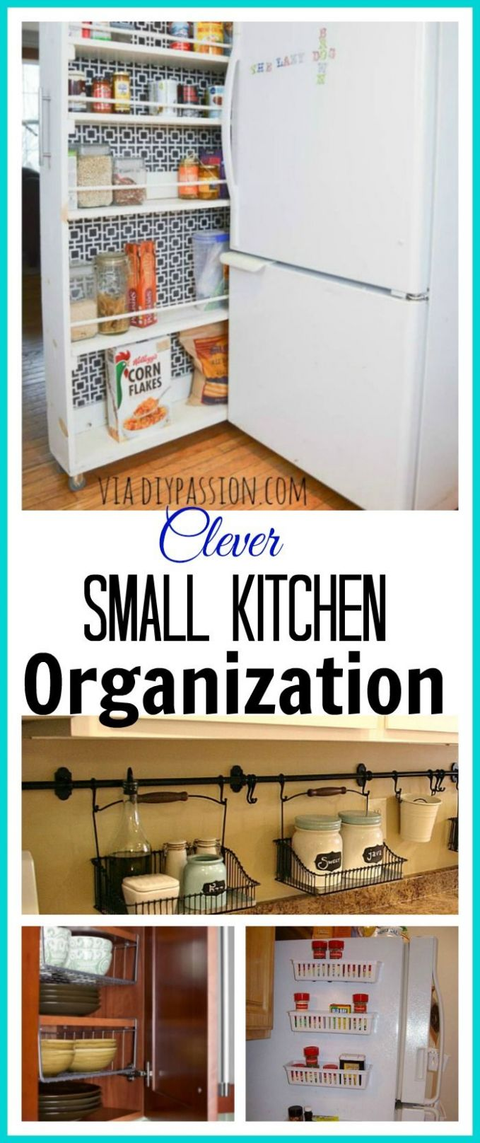 12 Ideas For Organizing a Small Kitchen | Kitchen organization diy - kitchen ideas organizing