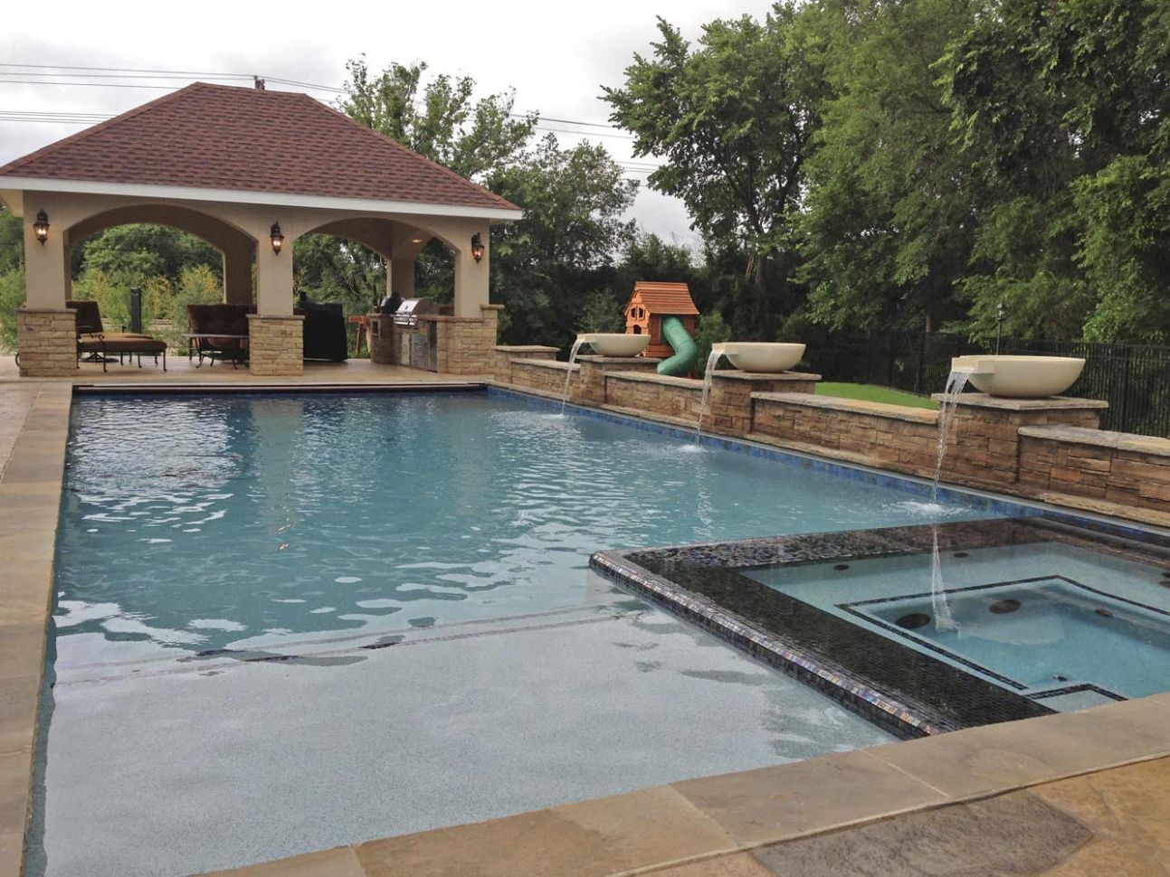 12 Impressive Inground Hot Tub and Pool Ideas For Your Home | Carnahan - pool ideas with spa