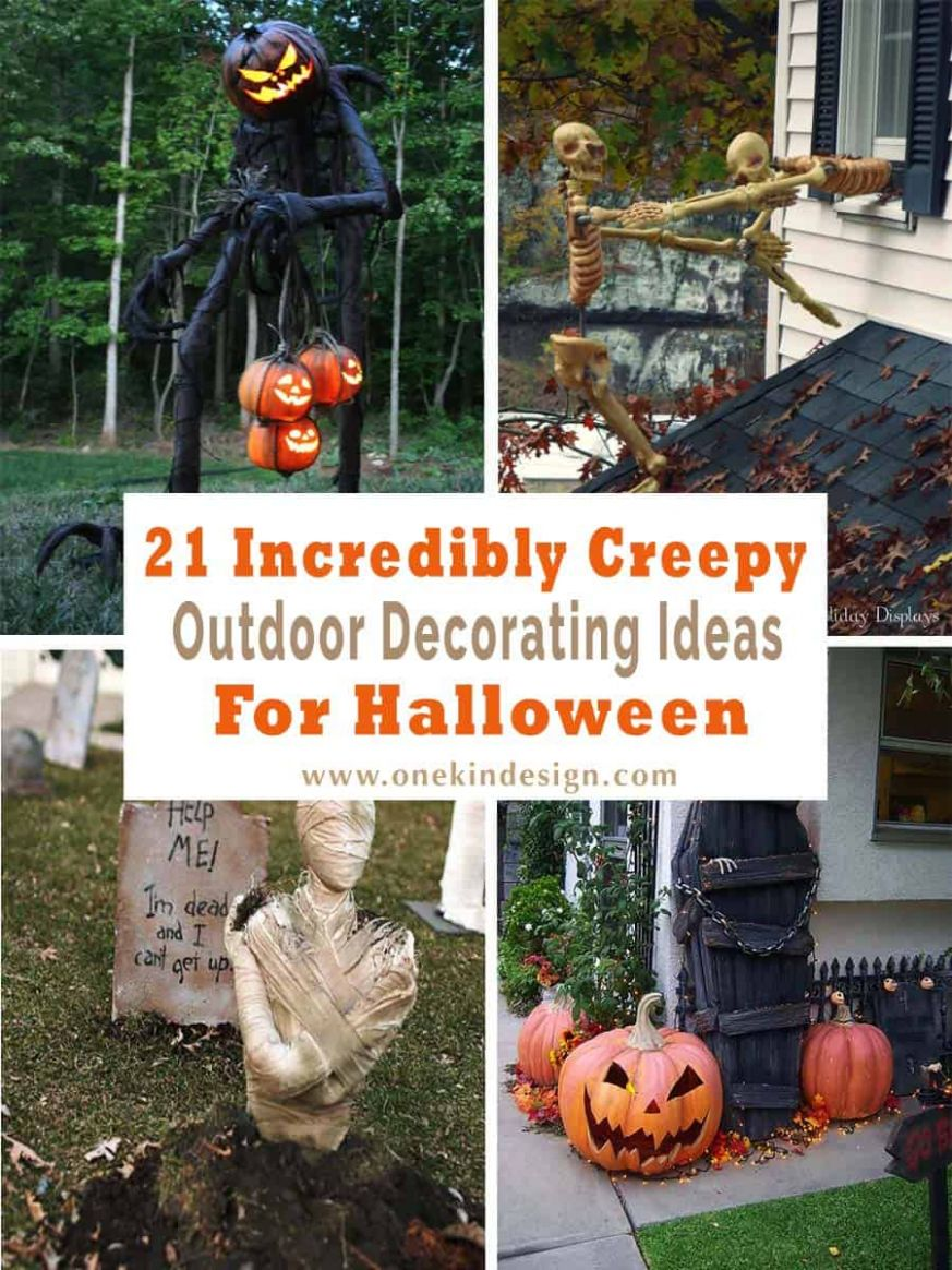 12 Incredibly creepy outdoor decorating ideas for Halloween - halloween ideas decorations outside