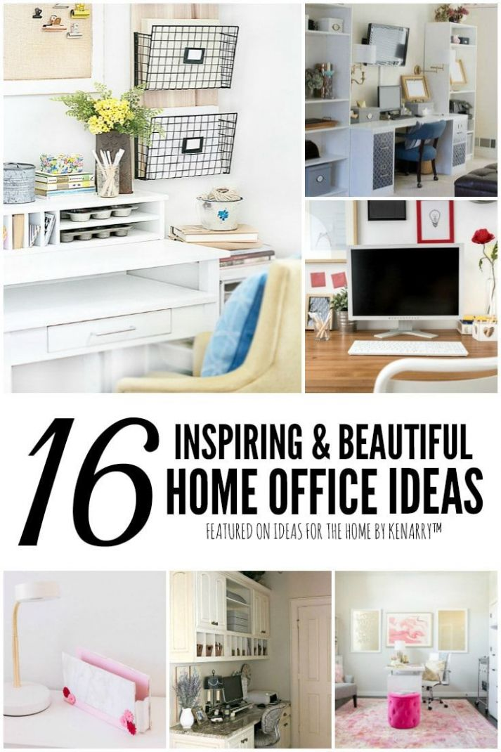 12 Inspiring & Efficient Home Office Ideas | Home, Home office ...