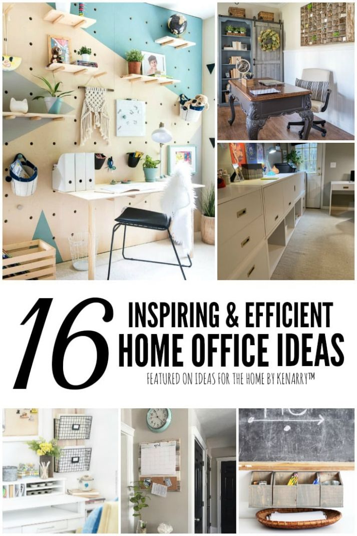 12 Inspiring & Efficient Home Office Ideas | Ideas for the Home