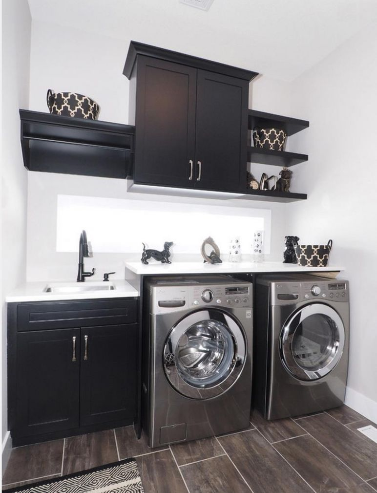 12 Laundry Room Cabinets To Make This House Chore So Much Easier - laundry room ideas with dark cabinets