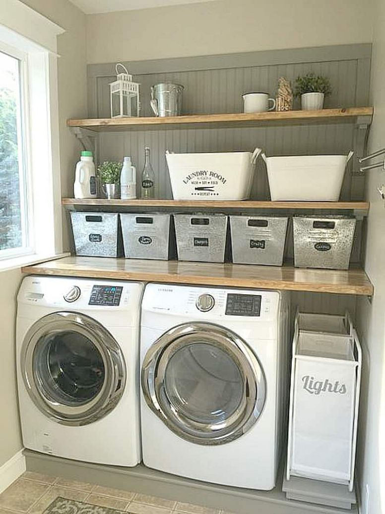 12 Laundry Room Ideas I Found for Inspiration ~ Bluesky at Home - laundry room countertop ideas
