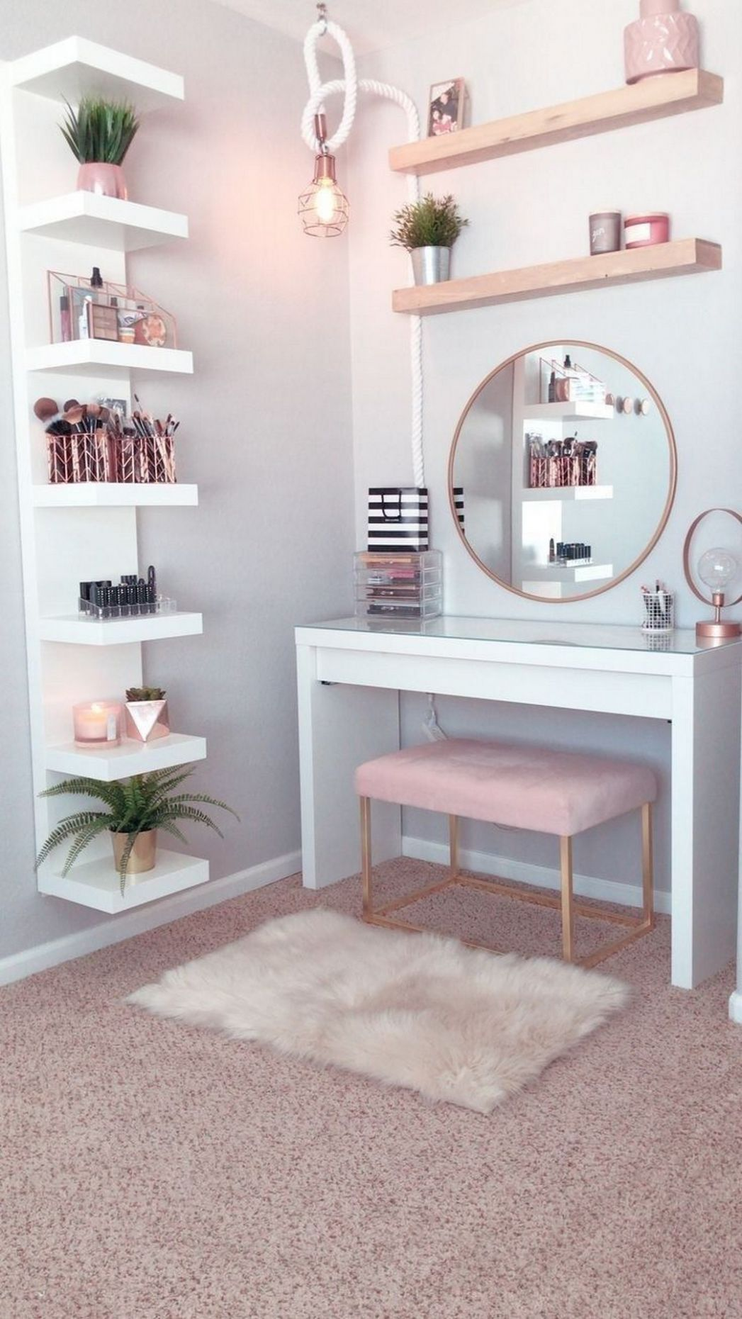 12 Makeup Room Ideas To Brighten Your Morning Routine - House & Living - makeup room painting