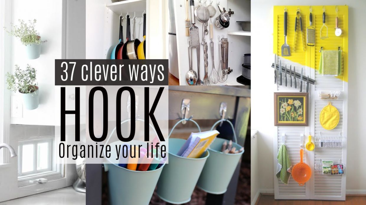 12 Organizing ideas with Command Hooks - closet hook ideas