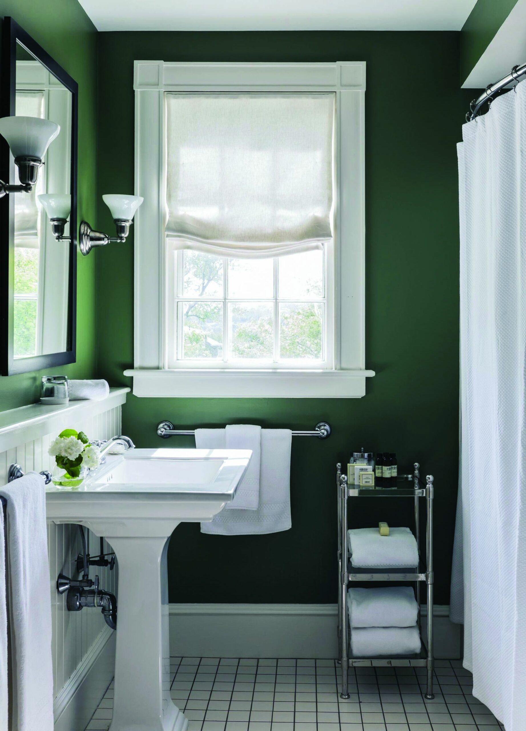 12 Paint Color Ideas for Small Bathrooms (With images) | Green ...