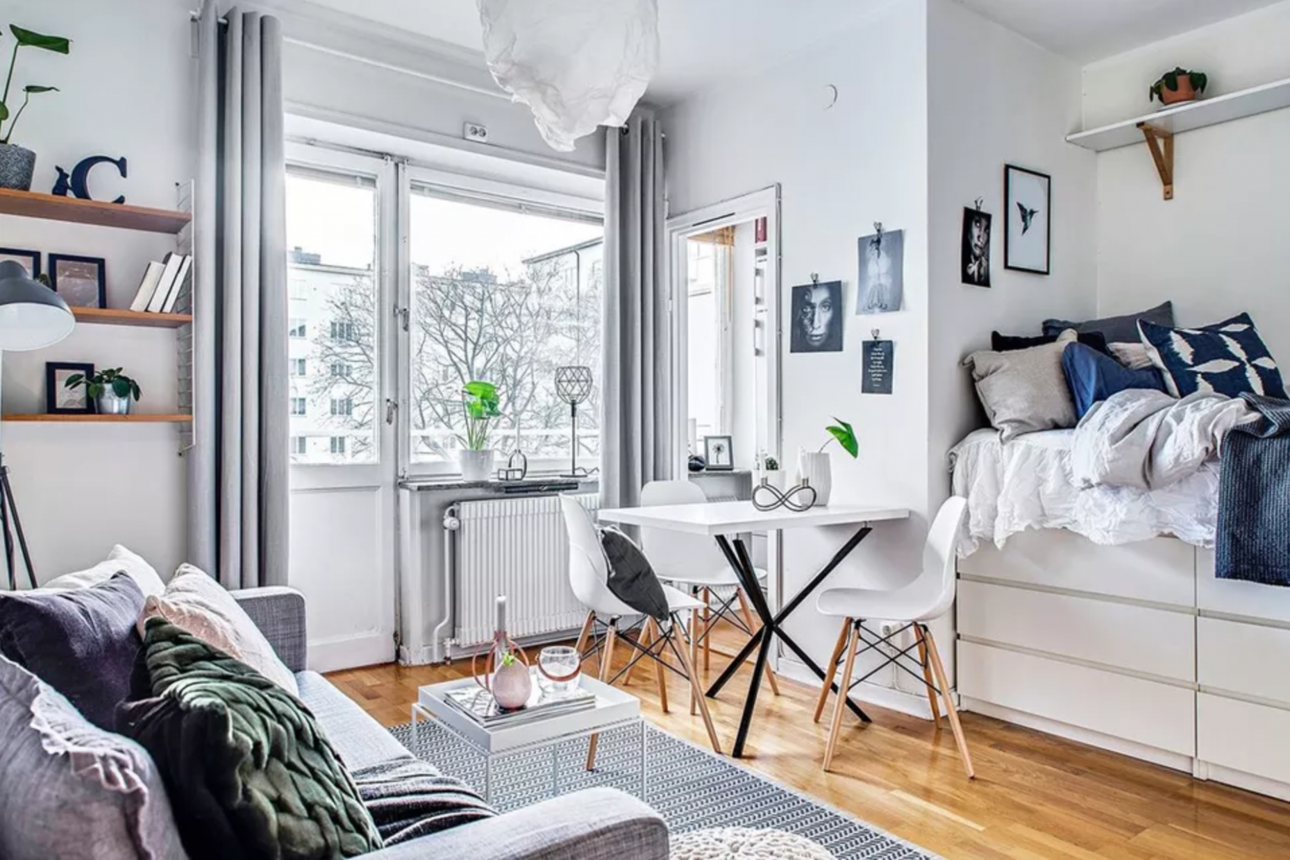 12 Perfect Studio Apartment Layouts That Work - tiny apartment design under 200 sf