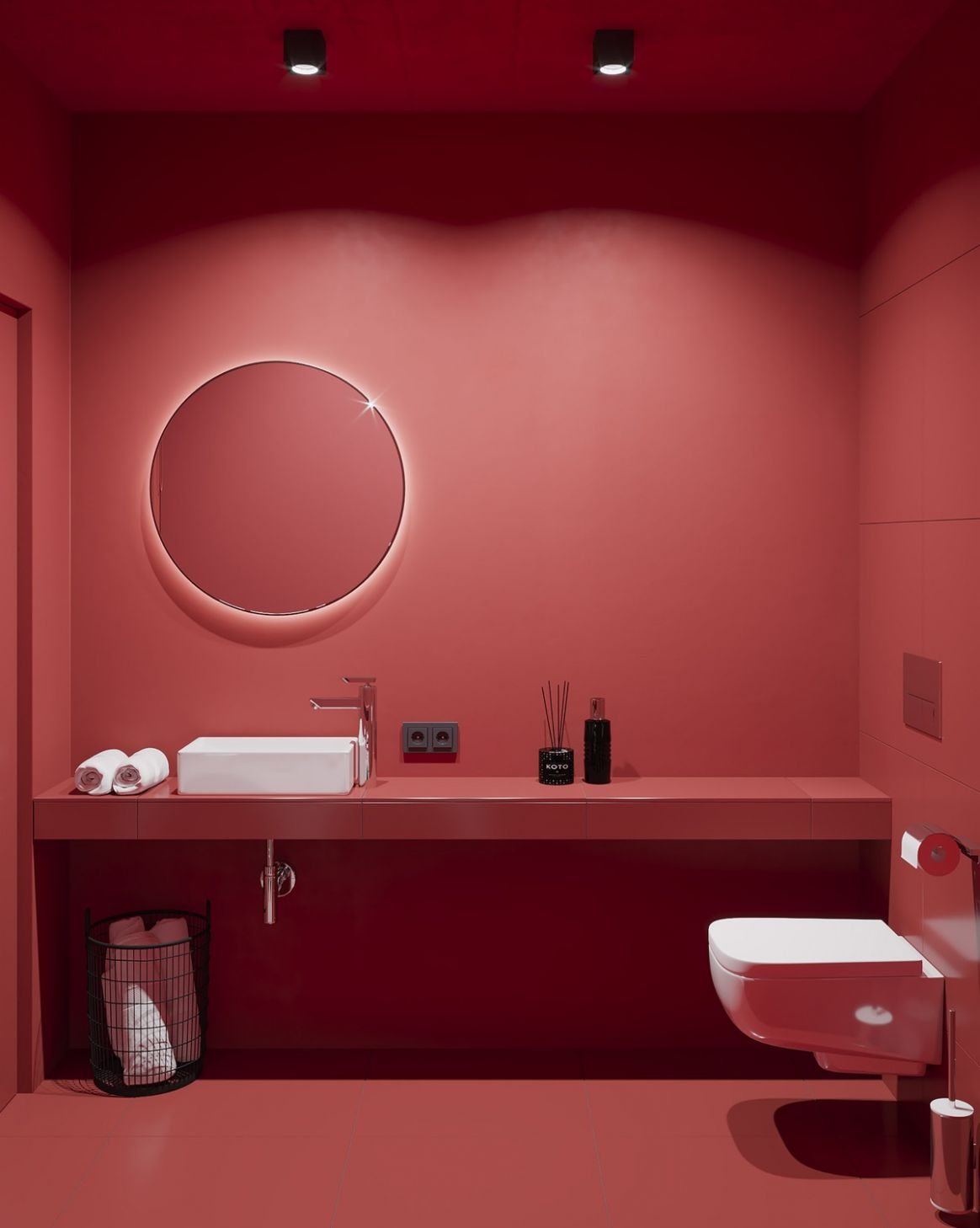 12 Red Bathrooms Design Ideas With Tips To Decorate And ...