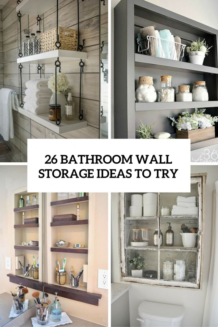 12 SImple Bathroom Wall Storage Ideas - Shelterness