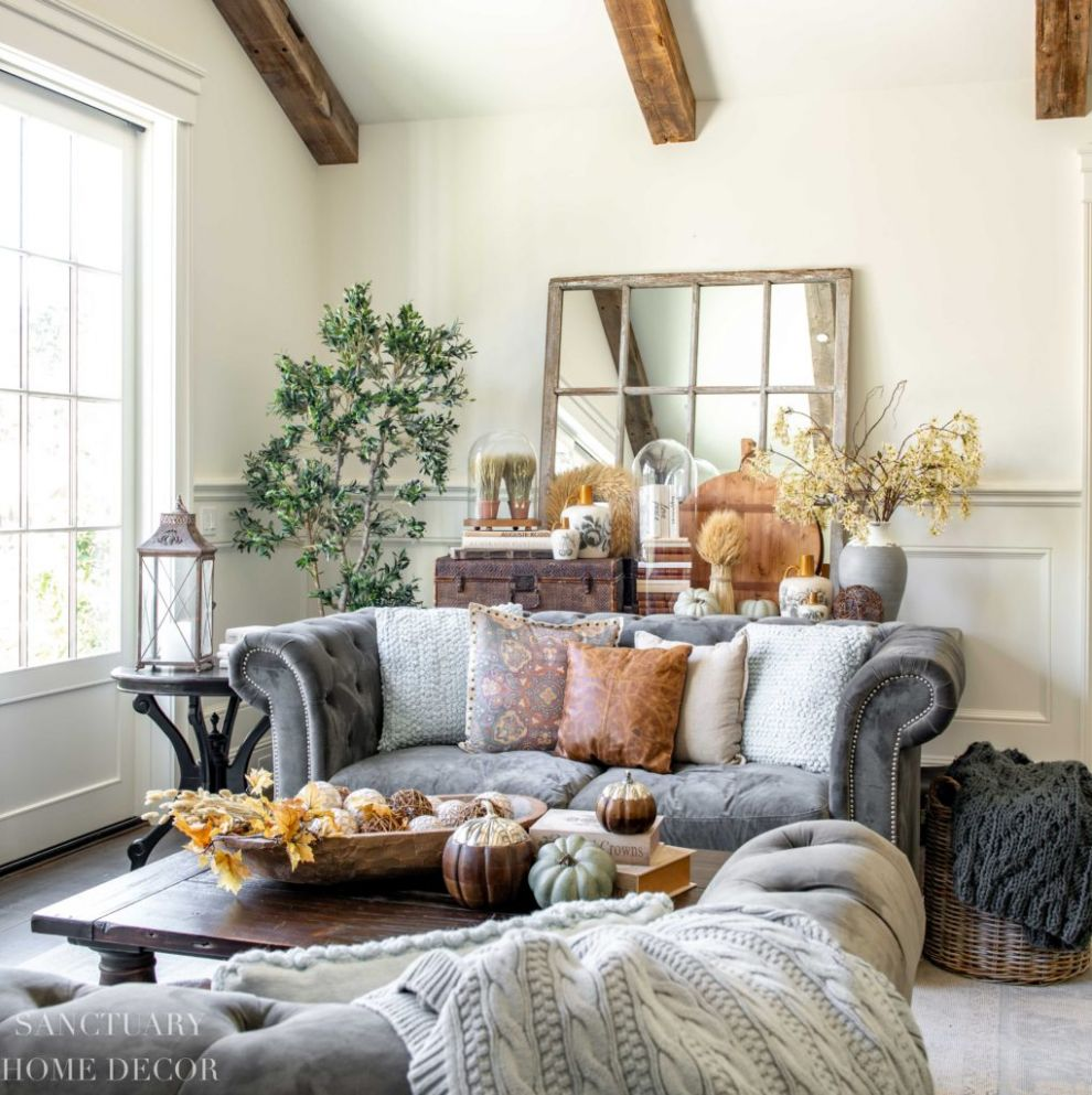 12 Simple Fall Decorating Ideas For Any Room - Sanctuary Home Decor - living room ideas vignettes