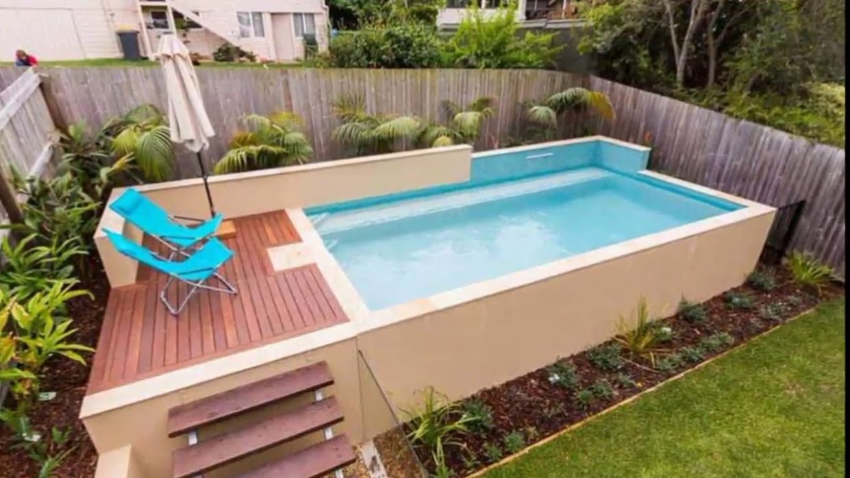12 Small Backyard Above Ground Pool Ideas - pool ideas small yard