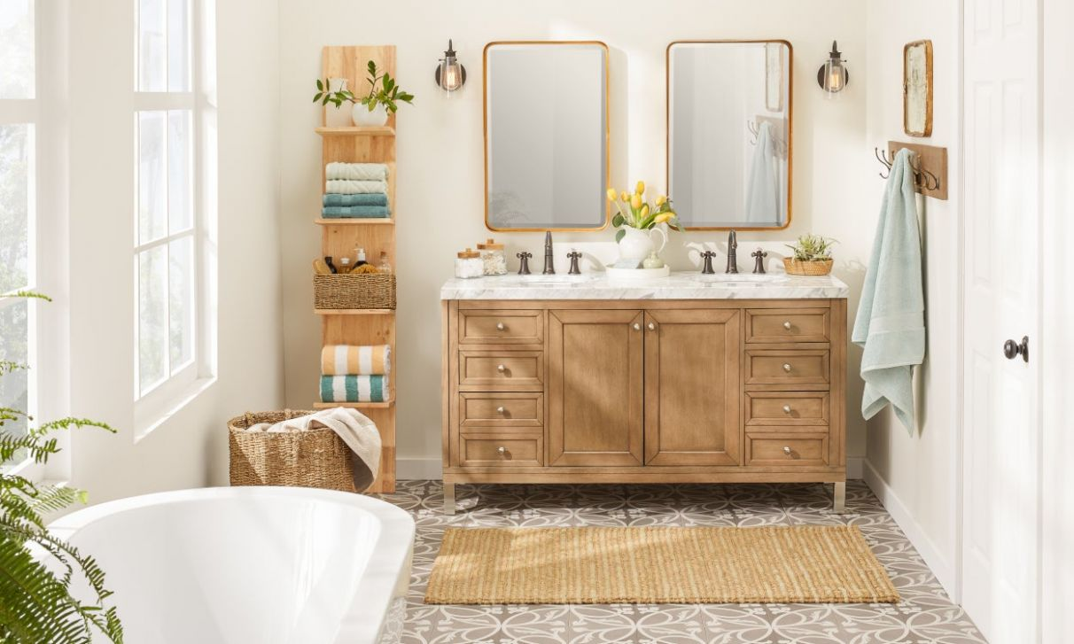 12 Small Bathroom Storage Ideas That Cut the Clutter | Overstock