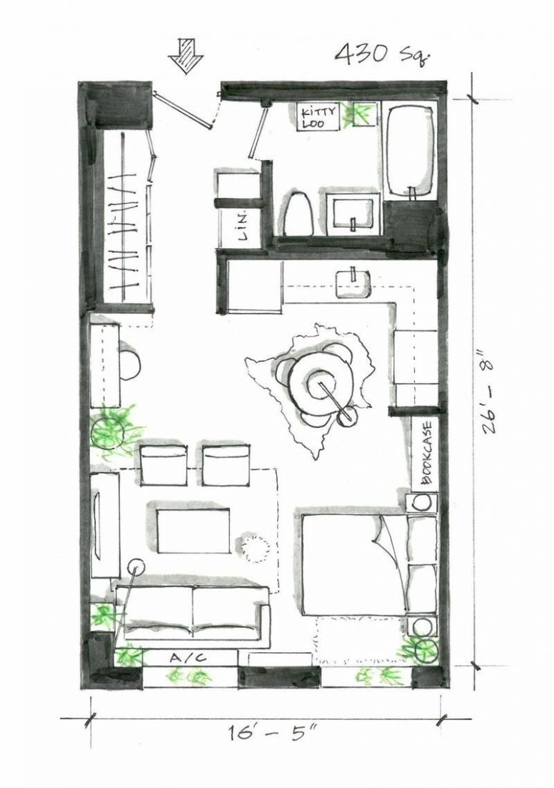 12 Smart Studio Apartment Layouts that Work Wonders for One-Room ..