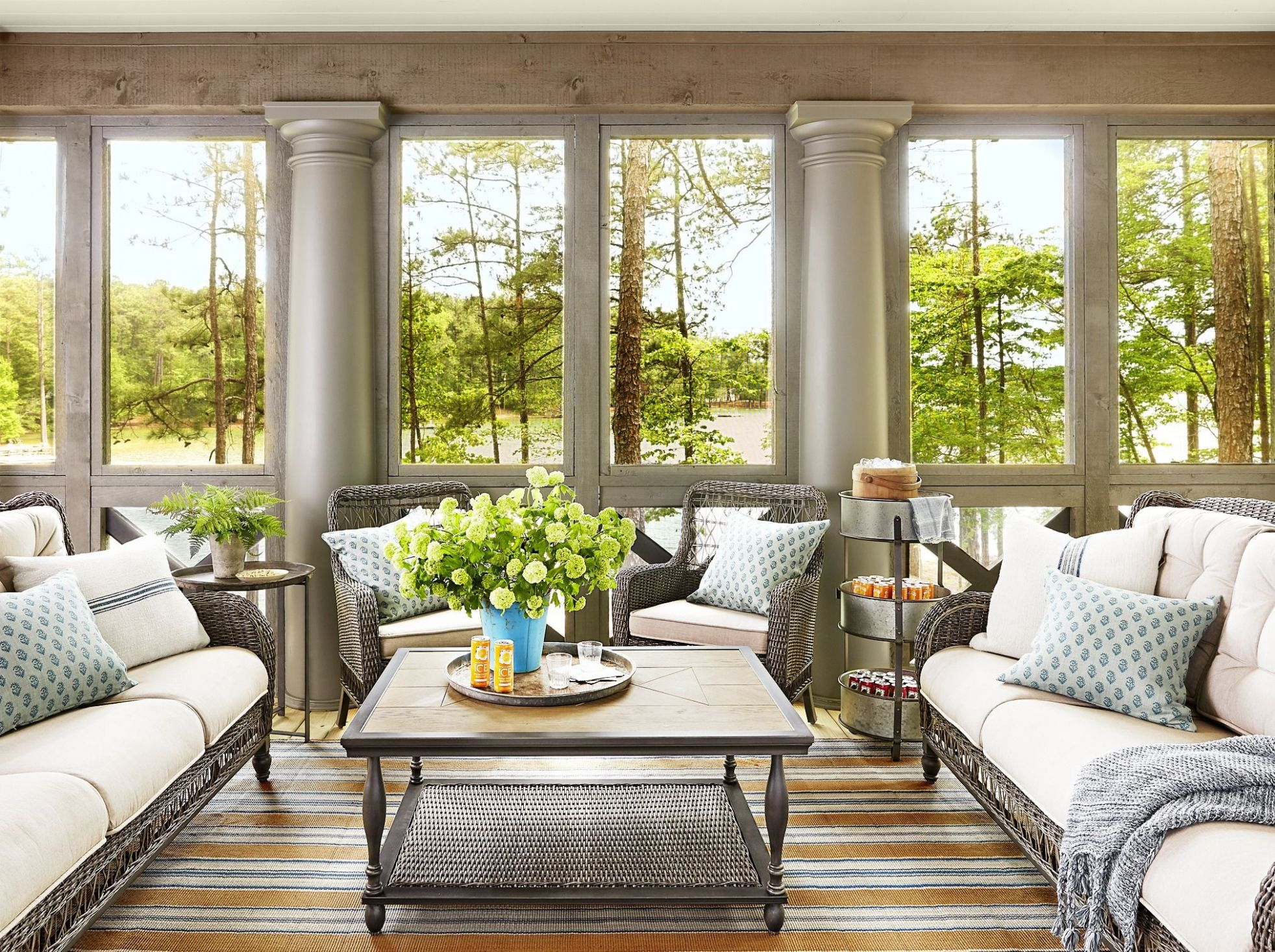 12 Sunroom Decorating Ideas - Best Designs for Sun Rooms - long sunroom ideas