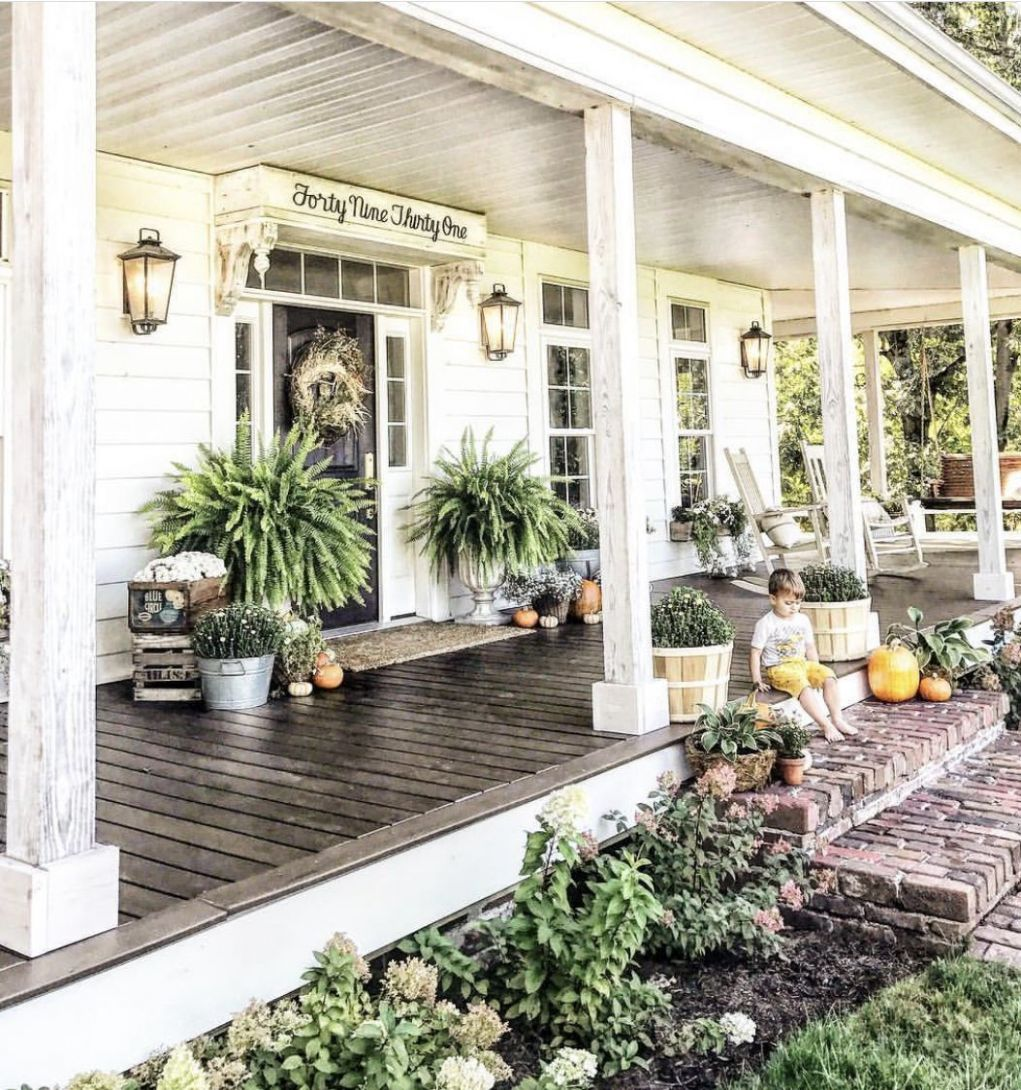12 The Best Front Porch Ideas [RECOMMENDED] (With images) | Front ... - front porch ideas