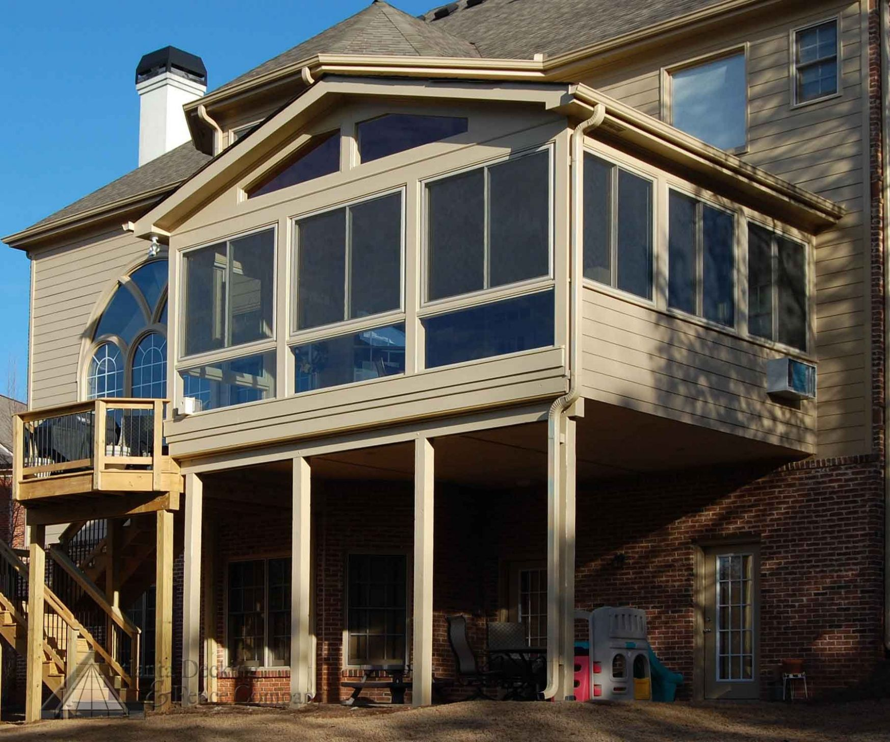 12st floor sunroom to deck, over walkout basement (With images ...