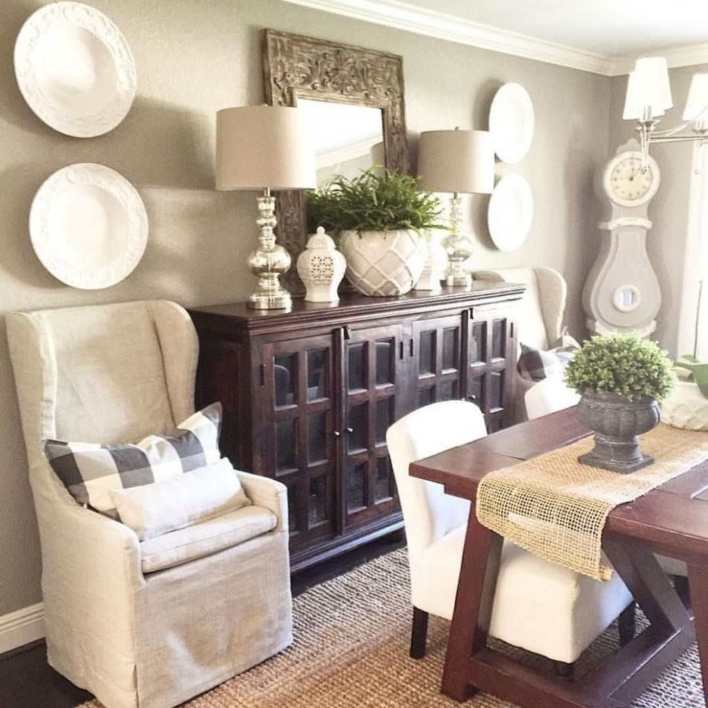 8 Awesome Dining Room Buffet Table Décor Ideas - TRENDEDECOR